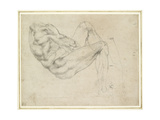 Study of a Recumbent Male Figure, Recto Giclee Print by  Michelangelo Buonarroti