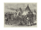 Excitement Among North American Indians Giclee Print by Melton Prior