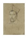 Portrait of Cardinal Pietro Aldobrandini (Black Chalk Giclee Print by Ottavio Mario Leoni