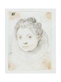Portrait of Woman Giclee Print by Ottavio Mario Leoni