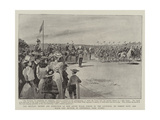 The Military Review and Inspection of New South Wales Forces by the Governor Giclee Print by Paul Destez
