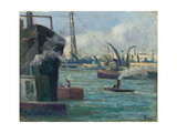 Rouen Port Giclee Print by Maximilien Luce