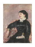 Portrait of an Italian Lady Giclee Print by Mary Cassatt