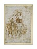 Various Figure Studies Giclee Print by  Michelangelo Buonarroti