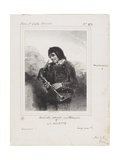 La Musette (The Bagpipe Player), 1844 Giclee Print by Paul Gavarni