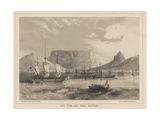 Cape Town and Table Mountain, Litho by Sarony and Co., 1855 Giclee Print by Peter Bernhard Wilhelm Heine