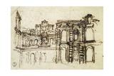 Study for Theatre in Palazzo Pitti in Florence Giclee Print by Pietro da Cortona