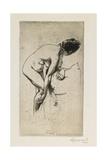 Study of Nude Female Figure, 1886 Giclee Print by Paul Albert Besnard