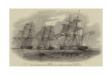 The Lady Kennaway in Tow of the Danish Vessels, Industrie and Nayaden Giclee Print by Nicholas Matthews Condy