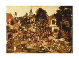 La foire du village Impression giclée par Pieter Brueghel the Younger