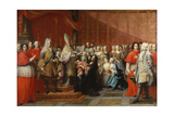The Baptism of Prince Charles Edward Stewart (1720-88), 1722-35 Giclee Print by Pier Leone Ghezzi