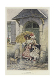A Rainy Day Giclee Print by Pierre Outin