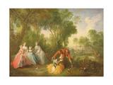 La Famille De Bourbon-Conti Giclee Print by Nicolas Lancret