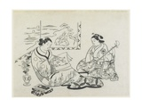 (Mitate of Matsukaze and Murasame), C. 1704-1706 Giclee Print by Okumura Masanobu