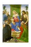 Madonna and Child Enthroned with Saints Peter Giclee Print by Piero di Cosimo