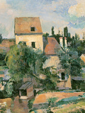 Moulin De La Couleuvre at Pontoise, 1881 Reproduction procédé giclée par Paul Cézanne
