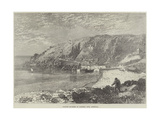 Granite Quarries at Lamorna Cove, Cornwall Giclee Print by R. Dudley
