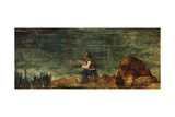 The Fisherman on the Rock; Le Pecheur Au Rocher, 1862-1864 Giclee Print by Paul Cézanne
