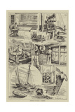 Sketches on Board a Lightship Giclee Print by Percy Robert Craft