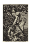 Grape Gathering Near Naples Giclee Print by Paul Alfred De Curzon