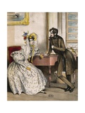 The Audience, Ca 1832 Giclee Print by Paul Gavarni