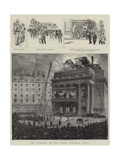 The Burning of the Opera Comique, Paris Giclee Print by Pierre Mejanel