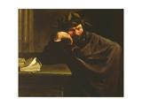A Poet Giclée-tryk af Pier Francesco Mola