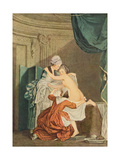 The Bath, by Nicolas Francois Regnault Giclee Print by Pierre Antoine Baudouin