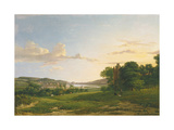 A View of Cessford and the Village of Caverton, Roxboroughshire in the Distance, 1813 Giclee Print by Patrick Nasmyth