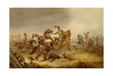 Heavy Cavalry at the Battle of Waterloo, 18th June 1815, 1870 Giclee Print by Orlando Norie