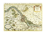 Map of the City of Vienna, 1692 Giclee Print by Nicolas Sanson D'abbeville
