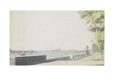 View from Somerset House Garden, Looking Towards Westminster Bridge, 1756 Giclee Print by Paul Sandby