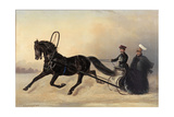 Emperor Nicholas I on a Winter Outing, 1853 Giclee Print by Nikolai Egorevich Sverchkov