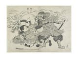 Kumagai Naozane and Taira No Atsumori, Late 17th-Early 18th Century Giclee Print by Okumura Masanobu