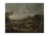 The Reverend Jemmet Browne at a Meet of Foxhounds, C.1730 Giclee Print by Peter Tillemans