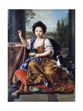 Portrait of Louise Marie Anne De Bourbon or Mademoiselle De Tours (1674-1681) Giclee Print by Pierre Mignard