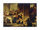 Marriage at Cana, 1728, Painting by Nicolas Vleughels (1668-1737), France, 18th Century Giclée-Druck von Nicolas Vleughels