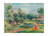 Landscape at Cagnes, C. 1907-1908 Giclee Print by Pierre-Auguste Renoir