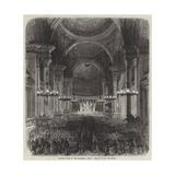 Midnight Mass at the Madeleine, Paris Giclee Print by Pharamond Blanchard