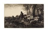 Silence Et Nuit Des Bois Giclee Print by Pierre Edmond Alexandre Hedouin