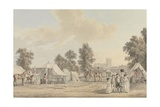 An Encampment in St. James's Park Giclee Print by Paul Sandby