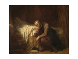 The Painter Michelangelo at the Deathbed of Vittoria Colonna Giclee Print by Nicaise De Keyser