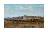 Village of Lauris, in Vaucluse on the Banks of the River Durance, 1868 Giclee Print by Paul Camille Guigou