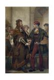 Albrecht Dürer Visiting Quinten Massijs Giclee Print by Nicaise De Keyser