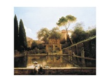 View of the Gardens of Villa D'Este in Tivoli, 1811 Giclee Print by Pierre Athanase Chauvin