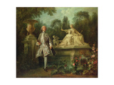 Portrait of the Actor Grandval, C.1742 Giclee Print by Nicolas Lancret
