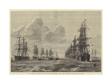 Naval Review at Spithead Giclee Print by R. Dudley
