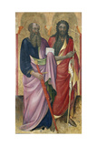 The Apostle Paul and John the Baptist, C.1418-20 Giclee Print by Piero Di Alvaro