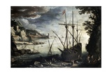 Harbor, 1611 Giclee Print by Paul Bril