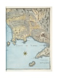Map of the Gulf of Naples and Surrounding Area from 'Campi Phlegraei: Observations on the Volcanoes Giclee Print by Pietro Fabris